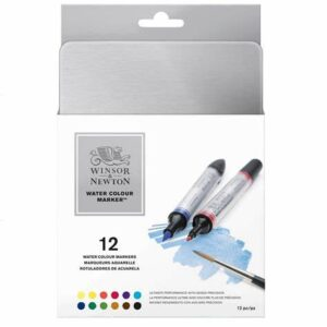 Winsor & Newton Water Colour Marker 12 pack-main